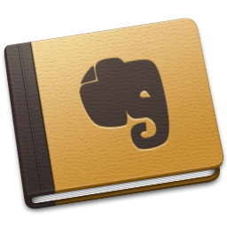 256x256px size png icon of Evernote Brown