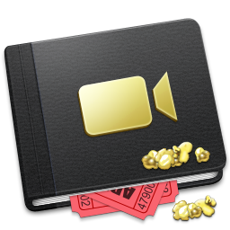 256x256px size png icon of Movie Book Alt