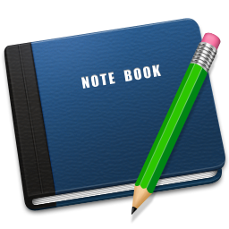 256x256px size png icon of Note Book Alt