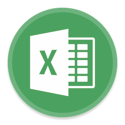 256x256px size png icon of Excel 2