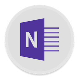 256x256px size png icon of OneNote