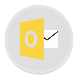 256x256px size png icon of Outlook