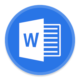 256x256px size png icon of Word 2