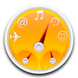 256x256px size png icon of orange