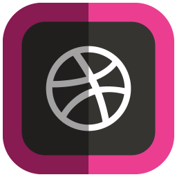256x256px size png icon of Dribbble