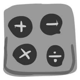 256x256px size png icon of Calculator 512x512