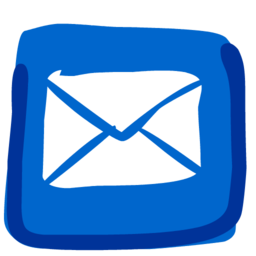 256x256px size png icon of Mail 512x512