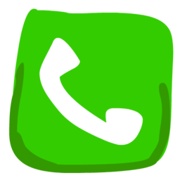 256x256px size png icon of Phone 512x512