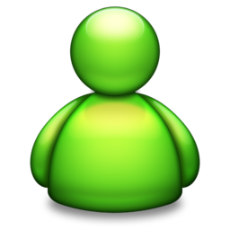 256x256px size png icon of Live Messenger green