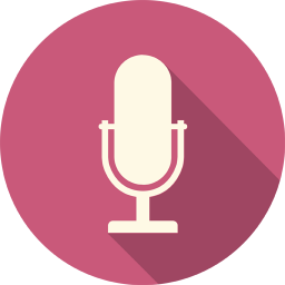 256x256px size png icon of Microphone