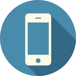 256x256px size png icon of Mobile Smartphone