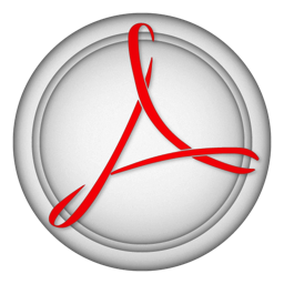 256x256px size png icon of acrobat