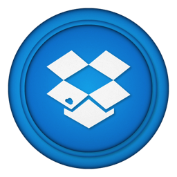 256x256px size png icon of dropbox