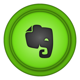 256x256px size png icon of evernote