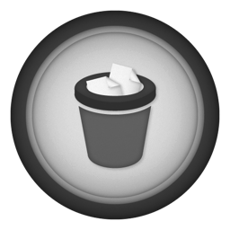 256x256px size png icon of trash full