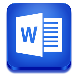 256x256px size png icon of word