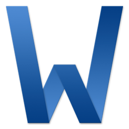 256x256px size png icon of Word Letter