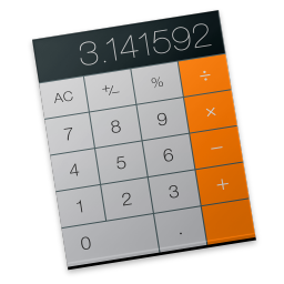 256x256px size png icon of calculator