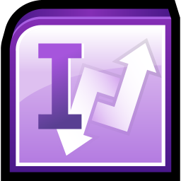 256x256px size png icon of Microsoft Office InfoPath
