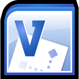 256x256px size png icon of Microsoft Office Visio