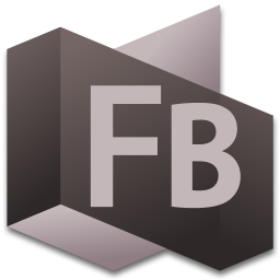 256x256px size png icon of Flash Builder 4