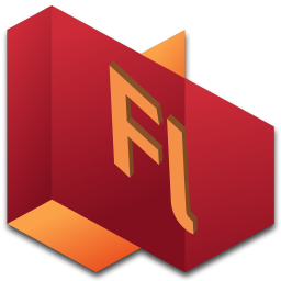 256x256px size png icon of Flash 2