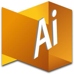 256x256px size png icon of Illustrator 1