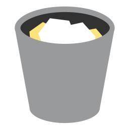 256x256px size png icon of appicns Trash Full