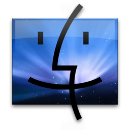 256x256px size png icon of Leo Finder Blue