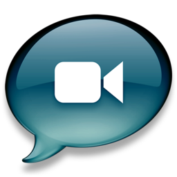 256x256px size png icon of iChat donkerblauw