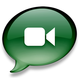 256x256px size png icon of iChat donkergroen