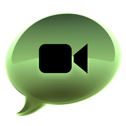 256x256px size png icon of iChat groen alt