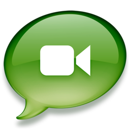 256x256px size png icon of iChat groen