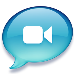 256x256px size png icon of iChat lichtblauw