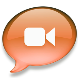 256x256px size png icon of iChat oranje