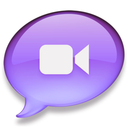 256x256px size png icon of iChat paars