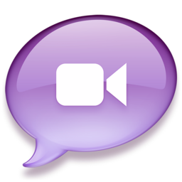 256x256px size png icon of iChat purple