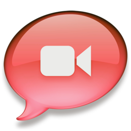 256x256px size png icon of iChat rood 2