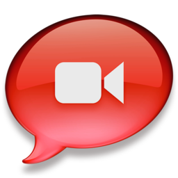 256x256px size png icon of iChat rood