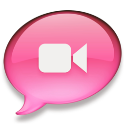 256x256px size png icon of iChat roze