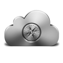 256x256px size png icon of Safari Silver