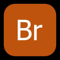 256x256px size png icon of MetroUI Apps Adobe Bridge