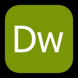 256x256px size png icon of MetroUI Apps Adobe Dreamweaver