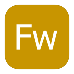 256x256px size png icon of MetroUI Apps Adobe Fireworks