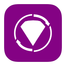 256x256px size png icon of MetroUI Apps BeJeweled Twist