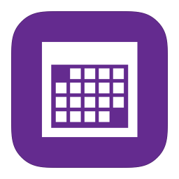 256x256px size png icon of MetroUI Apps Calendar