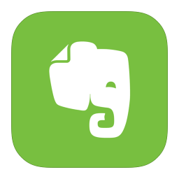 256x256px size png icon of MetroUI Apps Evernote