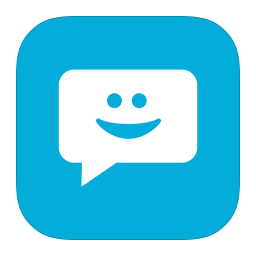 256x256px size png icon of MetroUI Apps Messaging