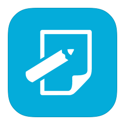 256x256px size png icon of MetroUI Apps Notepad