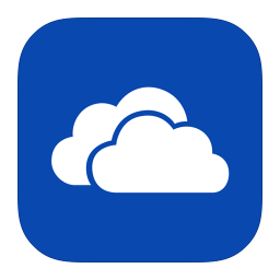256x256px size png icon of MetroUI Apps SkyDrive